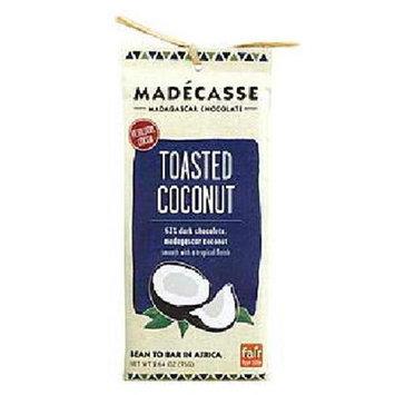 Madecasse Madagascar 63% Dark Chocolate Toasted Coconut 2.64 oz