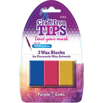 Purple Cows Craft Iron Red/ Yellow/ Blue Encaustic Wax Refill