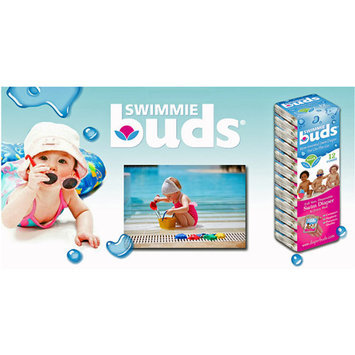 Sentron DiaperBuds SwimmieBuds Disposable Swim Diapers, Small, (16-26 lbs), 12ct