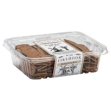 Firehook All Natural Artisan Baked Crackers Multigrain Flax 7 oz