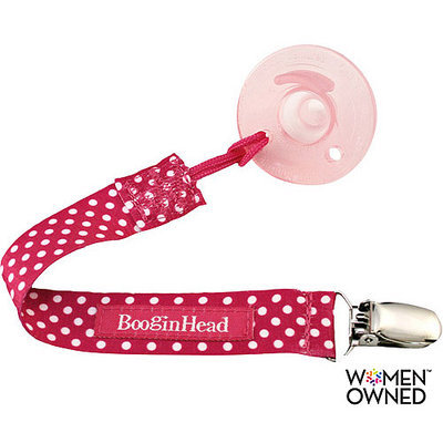 Booginhead PaciGrip Pacifier Holder - Pink Polka Dot
