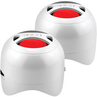 Dbest London Duo Bluetooth Rechargeable Mini Speaker Set - White