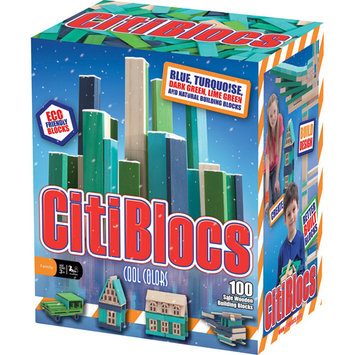 CitiBlocs Cool Colors Building Set (100 pcs)