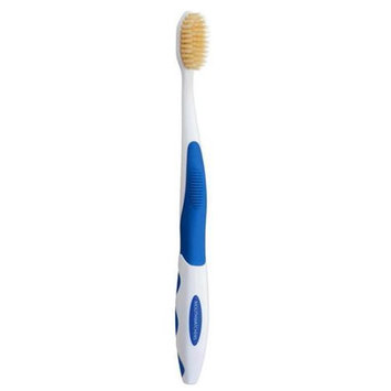 Mouth Watchers NS-600 Antimicrobial Toothbrush with Flossing Bristles 20 Adult Blue