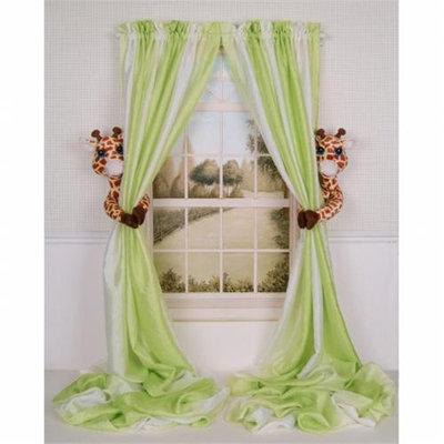 Curtain Critters ALBYGF080909SET Plush Safari Giraffe Curtain Tieback Set- 2