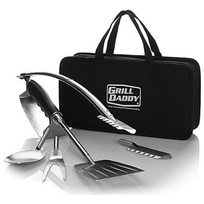 Grill Daddy Brush Co Inc Grill Daddy Heat Shield Camping & Tailgating Grill Set