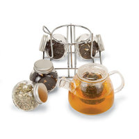 Longden Infusions Mini Glass Tea Rack Set