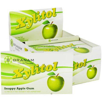 Branam Oral Health Smile Savors Xylitol Gum Snappy Apple - 12 Packs