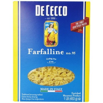 De Cecco Farfalline, 16 Ounce Boxes (Pack of 5)