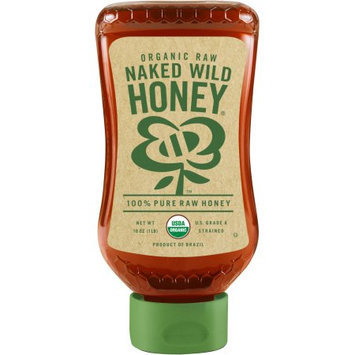 Barkman Honey Naked Wild Honey Organic Raw 100% Pure Raw Honey, 16 oz