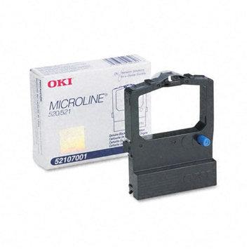 Oki 52107001 Printer Ribbon, Nylon, 4M Yield, Black