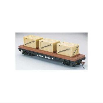 Model Power 40' Flat Car w/Crates ATSF HO CSMU7360 COSOM