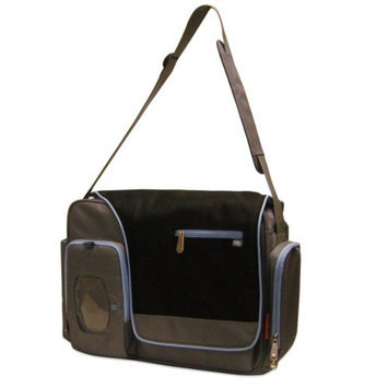 FISHER PRICE Fisher-Price Messenger Diaper Bag, Black/Blue