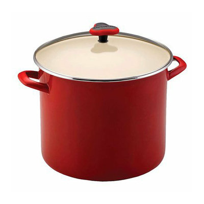 Rachael Ray Red Stockpot with Glass Lid - 12 Qt.