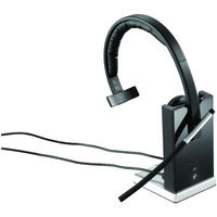 Logitech Wireless Headset Mono H820e - Mono - Wireless - Dect - 328.1 Ft - 150 Hz - 7 Khz - Over-the-head - Monaural - Supra-aural - Electret Microphone (981-000511 3)