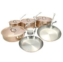 Mauviel Copper M'150S 10 Piece Cookware Set