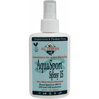 All Terrain AquaSport SPF15 Oxybenzone-Free Natural Sunscreen Spray (3-Ounce)