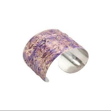 Paradise Exotic Shawl Pin Stainless Steel Cuff Bracelet-Purple