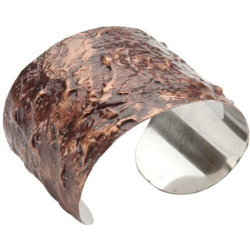 Paradise Exotic Shawl Pin Stainless Steel Cuff Bracelet-Copper