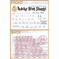 Peachy Keen Clear Stamp Face Assortment-Wide Eyed And Bushy Tailed