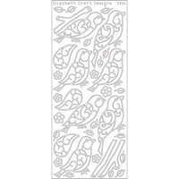 Elizabeth Craft Designs 124629 Birds And Branches Peel Off Stickers 4 in. x 9 in. Sheet-Black