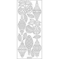 Elizabeth Craft Designs 124824 Christmas Ornaments-Lamps Peel Off Stickers 4 in. x 9 in. Sheet-Gold