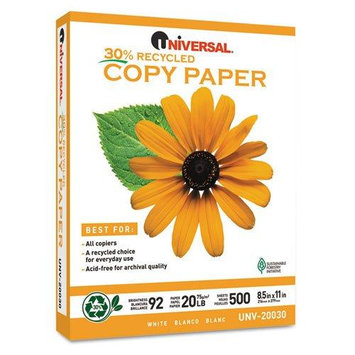 Universal Office Products Inkjet Paper Universal Recycled Copy/Multi