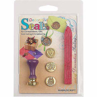Manuscript Pen 270228 Decorative Sealing Set with Pink Wax-Butterfly Cake & Heart Coins