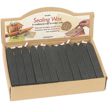 Manuscript Pen Traditional Sealing Wax Sticks with Wick - Black