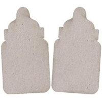 Fabscraps 270726 Die-Cut Grey Chipboard Embellishments-Bottle 2-Pkg