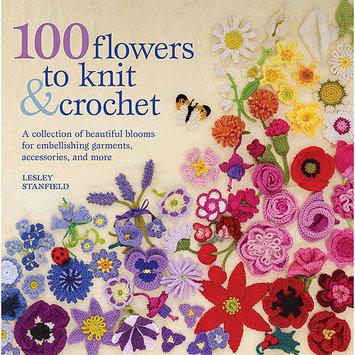 Macmillan Publishing Company St. Martin's Books-100 Flowers To Knit & Crochet