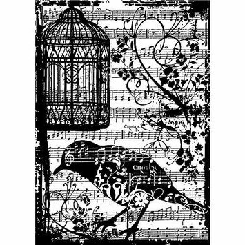Stampers Anonymous 461156 Tim Holtz Cling Rubber Stamp-Tattered Sparrow