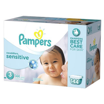 Pampers Swaddlers Sensitive Diapers Economy Plus Pack Size 3 (144