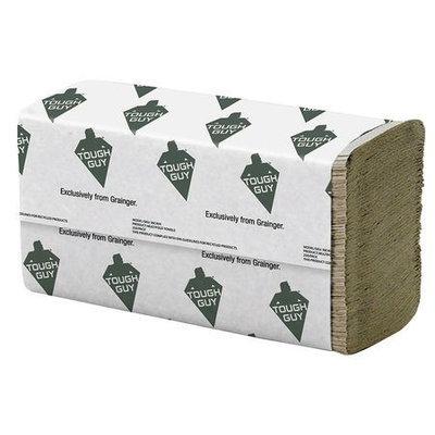 TOUGH GUY 38C403 Paper Towel, Multifold, Brown, PK16
