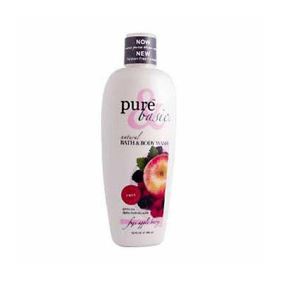 Pure and Basic Natural Bath and Body Wash Fuji Apple Berry 12 fl oz