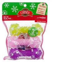 Grreat ChoiceA Pet HolidayTM 3-Pack Dumbbell Dog Toy