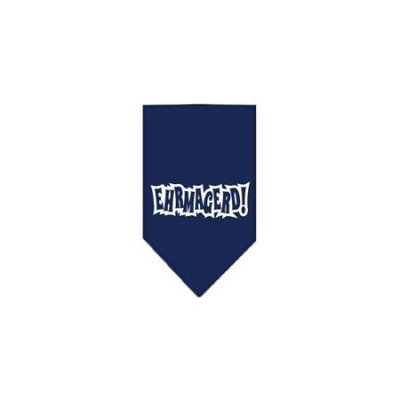 Ahi Ehrmagerd Screen Print Bandana Navy Blue large