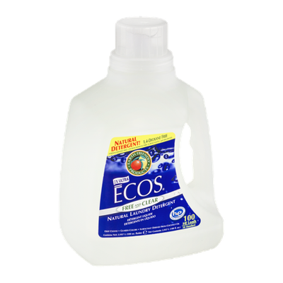 Earth Friendly Products Ecos 2X Ultra Natural Laundry Detergent Free and Clear