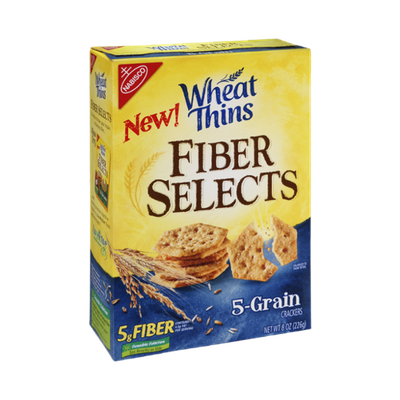 Nabisco Wheat Thins Fiber Selects 5-Grain Crackers