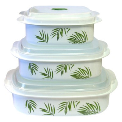 Corelle Reston Lloyd  Microwave Set - Bamboo Leaf