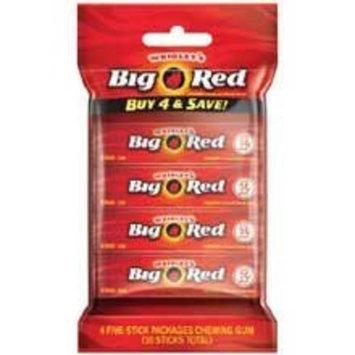 Wrigley's Big Red Gum - Bag of 4 Packs (5 Sticks Each Pack)