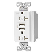 EAGLE ELECTRONICS Eagle Electric TR7746W 20-Amp USB Receptacle, White