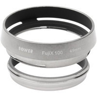 Bower AR-X100 Adapter Ring & Hood for Fuji X100/X100S/X100T Camera (49mm)