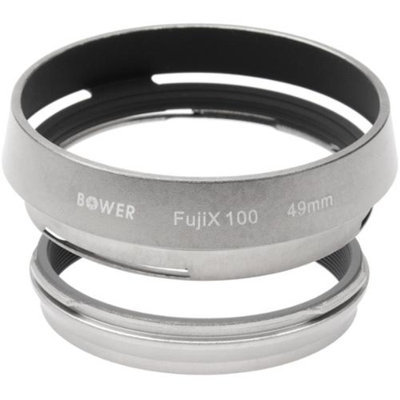 Bower AR-X100 Adapter Ring & Hood for Fuji X100/X100S/X100T Camera (49mm)