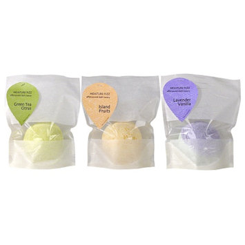 Smith & Vandiver Aromatherapaes Moisture Fizz Effervescent Bath Luxury, Green Tea Citrus, Island Fruits & Lavender Vanilla, 3 ea