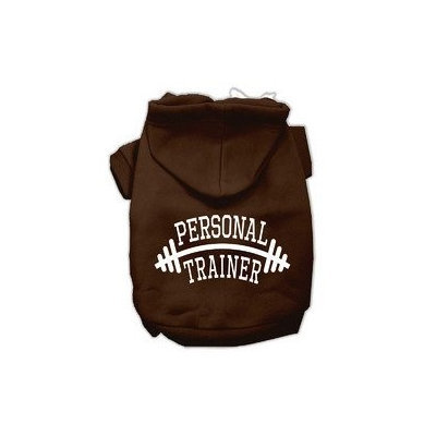 Mirage Pet Products Personal Trainer Screen Print Pet Hoodies Brown Size Med (12)