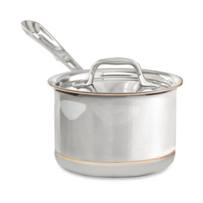 All Clad ALL CLAD 2 Quart Sauce Pan With Lid Copper Core