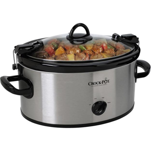 Crock Pot Crock-Pot 6 Qt. Stainless Steel Cook & Carry Slow Cooker
