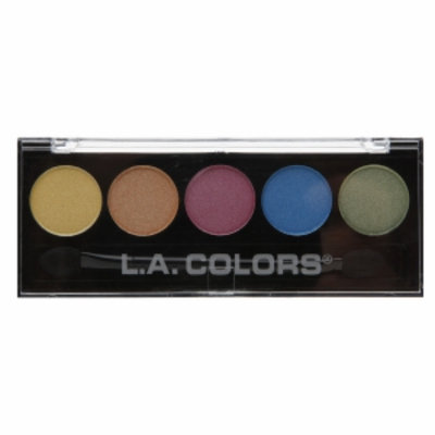 L.A. Colors 5 Color Metallic Eyeshadow, Tease, .26 oz