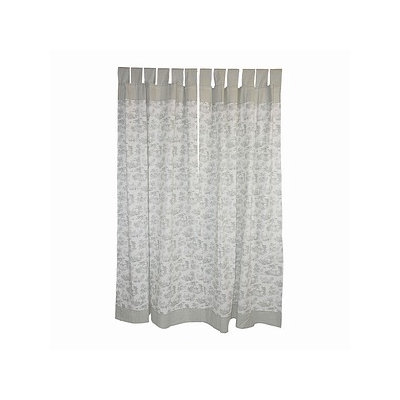 Tadpoles Toile Set of Two Curtain Panels